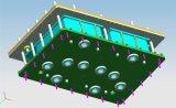 CNC di alta qualità che lavora la lavorazione con utensili alla macchina di alluminio elaborata della muffa per i prodotti della gomma piuma di EPP di Partical