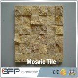 最新のデザイン正方形の自然なTravertineのベージュ黄色い大理石のモザイク