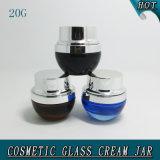 шикарный черный пустой косметический стеклянный Cream опарник 20ml