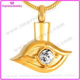 Kristall Augen-Urne-in den hängenden Halsketten-Edelstahl-Verbrennung-Schmucksachen verascht Andenken-Halter (IJD9280)
