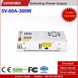 alimentazione elettrica di commutazione di 5V 60A 300W per lo schermo di visualizzazione del LED
