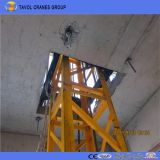 Qtg10 1tonの小型タワークレーンの内部の上昇のタワークレーン