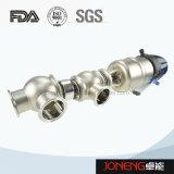 Válvula pneumática do assento dobro da diversão do fluxo do aço inoxidável (JN-FDV1003)