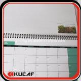 Impresión semanal espiral de encargo del planificador y del calendario de las fuentes de la oficina y de escuela