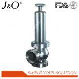 Válvula de descarga de presión sanitaria del acero inoxidable