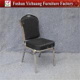 黒いファブリックレストランの椅子のステンレス鋼の宴会の椅子(YC-ZL144)