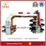 Máquina de alta velocidad de la película de plástico de 6 colores de impresión flexográfica