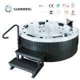 Bañera derecha libre al aire libre de la tina caliente de la nueva fibra de vidrio material de acrílico del diseño de Sunrans