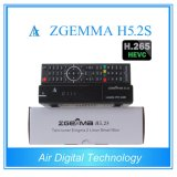 Professional receptor satelital decodificador &Zgemma H5.2s Linux OS DVB-S2+S2 Twintuners con H. 265/Hevc