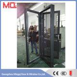 Porte d'oscillation en aluminium de qualité avec la moustiquaire inoxidable