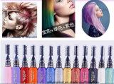 Сливк краски волос размера временно сливк цвета волос 13 цветов портативная миниая с щеткой