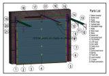 Плоский строб гаража 4 панелей секционный