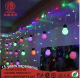 결혼식 발렌타인 데이 동안 옥외 LED 공 장식적인 커튼 또는 고드름 빛