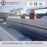 Tubo de aço quadrado galvanizado Ss400 Hot-DIP para suporte de aço