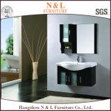 Vaidade moderna do gabinete de banheiro da madeira contínua
