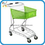 caddie en aluminium de chariot au panier 50L en plastique