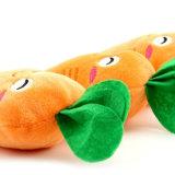 Juguete de la felpa del Chew del chirrido del animal doméstico para el animal doméstico del gato del perro, estilo de la zanahoria