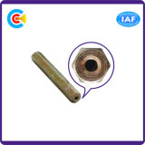 Go/DIN/JIS/ANSI en acier au carbone galvanisé 4.8/8.8/10.9 piliers pour la construction de chemin de fer à tête hexagonale