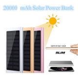 超細い太陽エネルギーバンク20000mAhの携帯用太陽充電器のアルミニウム外部バッテリー・バックアップの超薄い太陽エネルギーバンク