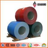 El color de Ideabond PVDF cubrió la bobina de aluminio (PVDF/PE)
