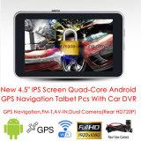 """2016 Novo 4.5 """"854 * 480pixel IPS Screen Android 6.0 Tablet PCS Navegação GPS do carro Construído em Dual Car Camera 2CH Car DVR, Transmissor FM, WiFi, 3G Dongle G-4501"""