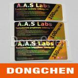 Las escrituras de la etiqueta farmacéuticas/etiqueta engomada del frasco del holograma hacen en China