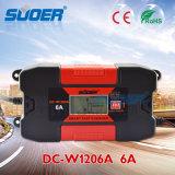 Suoer 12V 6A интеллектуальное быстрое зарядное устройство Energy Smart с маркировкой CE (DC-W1206A)