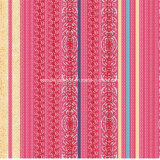 100%Polyester de Afgedrukte Stof van de Strook van het patroon Pigment&Disperse voor de Reeks van het Beddegoed