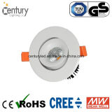 15W Round Warm White 90mm Cutout COB Down Light LED