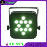 Control remoto 12X10W RGBW LED PAR Etapa batería Luz