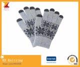 Luvas do toque dos flocos de neve do inverno