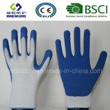 Le caoutchouc spongieux de gant a enduit les gants de jardinage de sûreté de travail