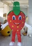 赤いいちごシリーズマスコットの衣裳のフルーツのマスコットの衣裳