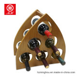 Cremagliera di legno triangolare unica del vino per la bottiglia 6 con il MDF