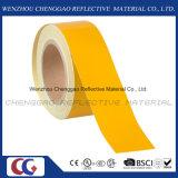 Gelbes selbstklebendes reflektierendes warnendes Band für LKW (C1300-OY)