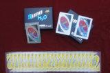Cartão de plástico de PVC Tranparent Uno jogar cards