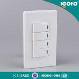 4 Gang 1 Way Wi-Fi Remote Control Wall Socket Switch