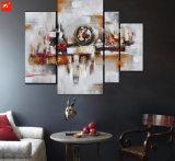 Ensemble de peinture à l'huile à blocs géométriques abstraits
