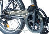 Велосипед рамки сплава 20 дюймов складной электрический с батареей лития для отключения