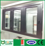Australisches doppeltes glasig-glänzendes Aluminiumrahmen-Bi-Falten-Standardfenster Pnoc110405ls
