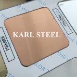 304 feuille gravée en relief par couleur d'argent d'acier inoxydable Kem010