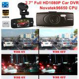 """Caro DVR de carro de 2.7 """"FHD1080p com Ntk96650 Gravador de vídeo digital de carro, 3.0m Aptina Ar0330 Câmera de carro, Controle de estacionamento, Visão noturna, Decreto de movimento Caixa de carro preto"""