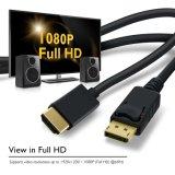 Gold überzogenes DisplayPort HDMI HDTV zum Kabel 28AWG