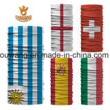 Bandana multiuso promozionale poco costoso su ordinazione della bandierina di paese