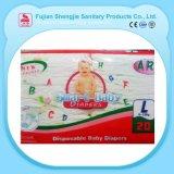 Materiales absorbentes fuertes impresos item barato del bebé para los pañales
