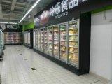 De commerciële Ijskasten van de Deur van het Glas van de Supermarkt Verticale Gebruikte Glijdende