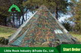 Tente chaude extérieure de Teepee de vente de tentes indiennes de Teepee de roche de Lieele