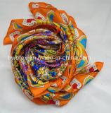 2017高品質によってカスタマイズされる絹のあや織りの大きい正方形のスカーフ(HWBS001)