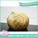 Filato di lavoro a maglia 100% del mestiere delle lane del filetto trasversale del punto del cotone
