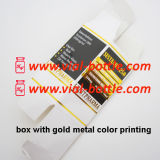 Metal del oro de la impresión en color 10ml Vial Box
